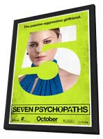 Seven Psychopaths - 27 x 40 Movie Poster - Style F - in Deluxe Wood Frame