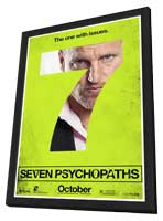 Seven Psychopaths - 27 x 40 Movie Poster - Style G - in Deluxe Wood Frame