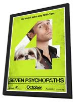 Seven Psychopaths - 11 x 17 Movie Poster - Style H - in Deluxe Wood Frame