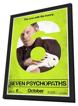 Seven Psychopaths - 27 x 40 Movie Poster - Style A - in Deluxe Wood Frame