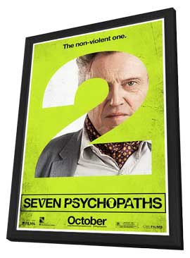 Seven Psychopaths - 11 x 17 Movie Poster - Style E - in Deluxe Wood Frame