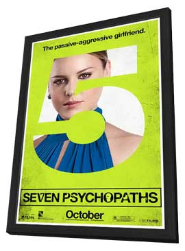 Seven Psychopaths - 11 x 17 Movie Poster - Style F - in Deluxe Wood Frame
