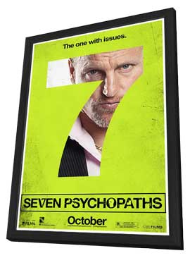 Seven Psychopaths - 11 x 17 Movie Poster - Style G - in Deluxe Wood Frame