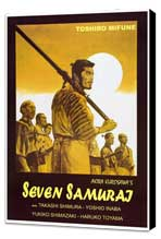 Seven Samurai - 27 x 40 Movie Poster - Italian Style A - Museum Wrapped Canvas