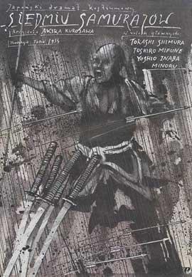 Seven Samurai - 11 x 17 Movie Poster - Polish Style A