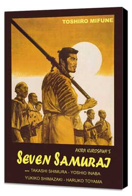 Seven Samurai - 11 x 17 Movie Poster - Italian Style A - Museum Wrapped Canvas