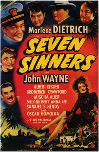 Seven Sinners - 11 x 17 Movie Poster - Style A