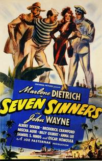 Seven Sinners - 11 x 17 Movie Poster - Style B