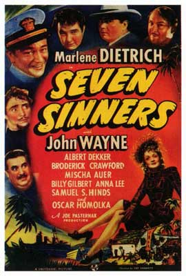 Seven Sinners - 27 x 40 Movie Poster - Style A
