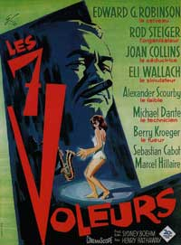Seven Thieves - 11 x 17 Movie Poster - French Style A