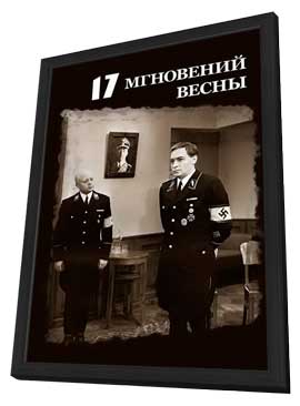 Seventeen Moments of Spring - 11 x 17 Movie Poster - Russian Style A - in Deluxe Wood Frame
