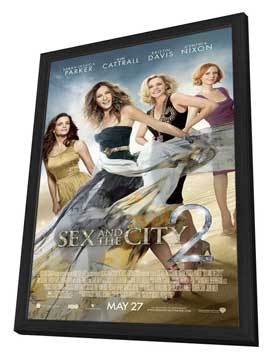 Sex and The City 2 - 27 x 40 Movie Poster - Style D - in Deluxe Wood Frame