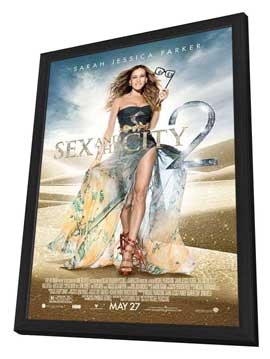 Sex and The City 2 - 27 x 40 Movie Poster - Style E - in Deluxe Wood Frame