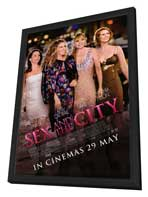 Sex and The City: The Movie - 27 x 40 Movie Poster - Style C - in Deluxe Wood Frame
