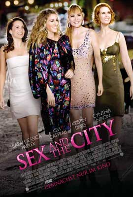Sex and The City: The Movie - 27 x 40 Movie Poster - German Style B
