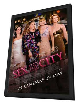 Sex and The City: The Movie - 11 x 17 Movie Poster - Style C - in Deluxe Wood Frame