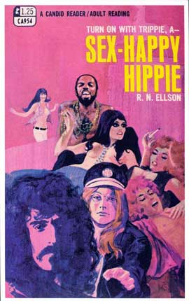 Sex-Happy Hippie - 11 x 17 Retro Book Cover Poster