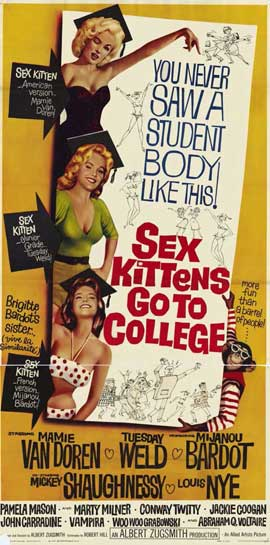 Sex Kittens Go to College - 11 x 17 Movie Poster - Style C