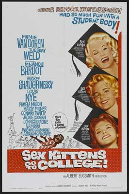 Sex Kittens Go to College - 27 x 40 Movie Poster - Style E