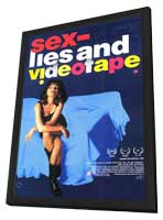 Sex, Lies and Videotape - 11 x 17 Movie Poster - Style C - in Deluxe Wood Frame