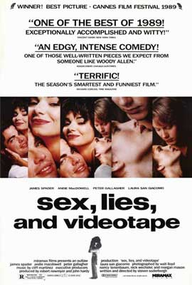 Sex, Lies and Videotape - 27 x 40 Movie Poster - Style B