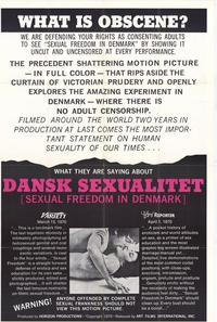 Sexual Freedom in Denmark - 11 x 17 Movie Poster - Style A