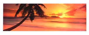 Seychelles Island Sunset - Photography Poster - 12 x 36 - Style A