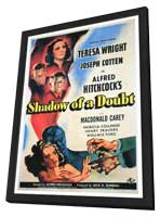 Shadow of a Doubt - 27 x 40 Movie Poster - Style B - in Deluxe Wood Frame