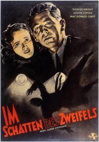 Shadow of a Doubt - 11 x 17 Movie Poster - German Style A
