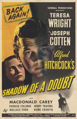 Shadow of a Doubt - 11 x 17 Movie Poster - Style D