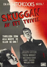 Shadow of a Doubt - 27 x 40 Movie Poster - Swedish Style E
