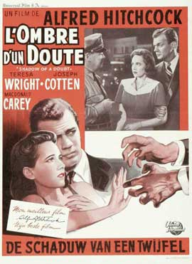 Shadow of a Doubt - 11 x 17 Movie Poster - Belgian Style E
