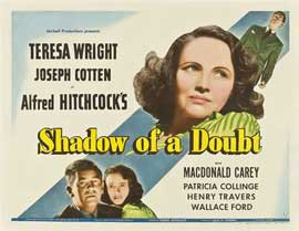 Shadow of a Doubt - 22 x 28 Movie Poster - Half Sheet Style B