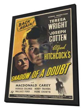Shadow of a Doubt - 11 x 17 Movie Poster - Style D - in Deluxe Wood Frame