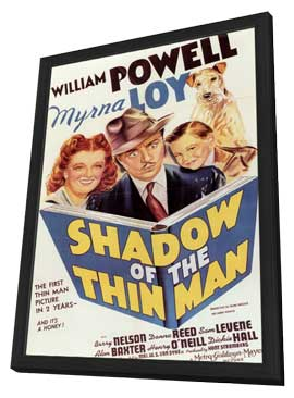 Shadow of the Thin Man - 11 x 17 Movie Poster - Style A - in Deluxe Wood Frame