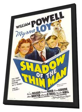 Shadow of the Thin Man - 27 x 40 Movie Poster - Style A - in Deluxe Wood Frame