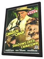 Shadows Over Chinatown - 11 x 17 Movie Poster - Style A - in Deluxe Wood Frame
