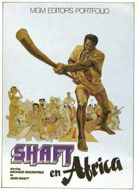 Shaft in Africa - 27 x 40 Movie Poster - Spanish Style B