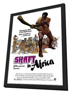 Shaft in Africa - 27 x 40 Movie Poster - Style A - in Deluxe Wood Frame