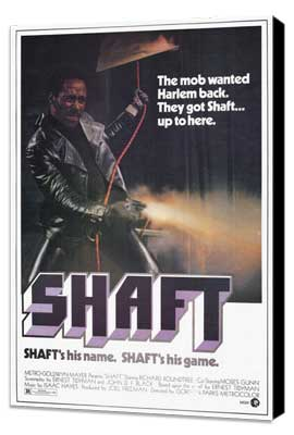 Shaft - 11 x 17 Movie Poster - Style A - Museum Wrapped Canvas