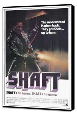 Shaft - 27 x 40 Movie Poster - Style A - Museum Wrapped Canvas