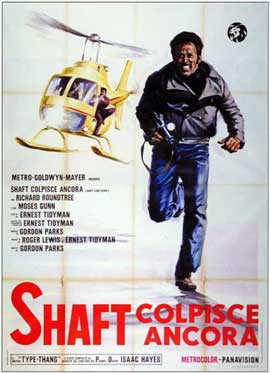 Shaft's Big Score - 11 x 17 Movie Poster - Italian Style A
