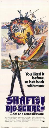 Shaft's Big Score - 14 x 36 Movie Poster - Insert Style A