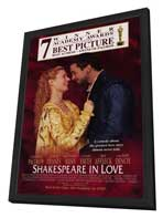 Shakespeare in Love - 27 x 40 Movie Poster - Style B - in Deluxe Wood Frame