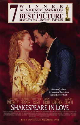 Shakespeare in Love - 27 x 40 Movie Poster - Style B