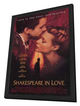 Shakespeare in Love - 27 x 40 Movie Poster - Style A - in Deluxe Wood Frame