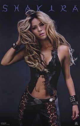 Shakira - 11 x 17 Music Poster - Style A