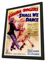 Shall We Dance - 27 x 40 Movie Poster - Style A - in Deluxe Wood Frame