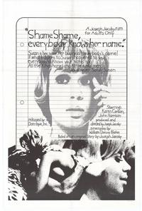 Shame, Shame, Everybody Knows Her Name - 27 x 40 Movie Poster - Style A