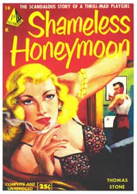 Shameless Honeymoon - 11 x 17 Retro Book Cover Poster